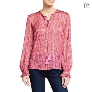 Tassel floral print blouse